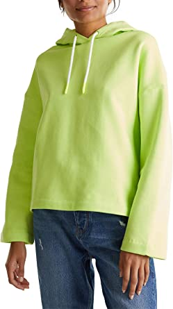 edc by Esprit Neon - Sudadera de boxeo con capucha (100% algodón) Lime Yellow. M: Amazon.es: Ropa y accesorios