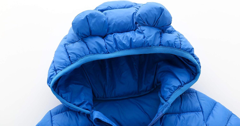 CECORC Acolchado Abrigo de Invierno para ni/ños con Capucha