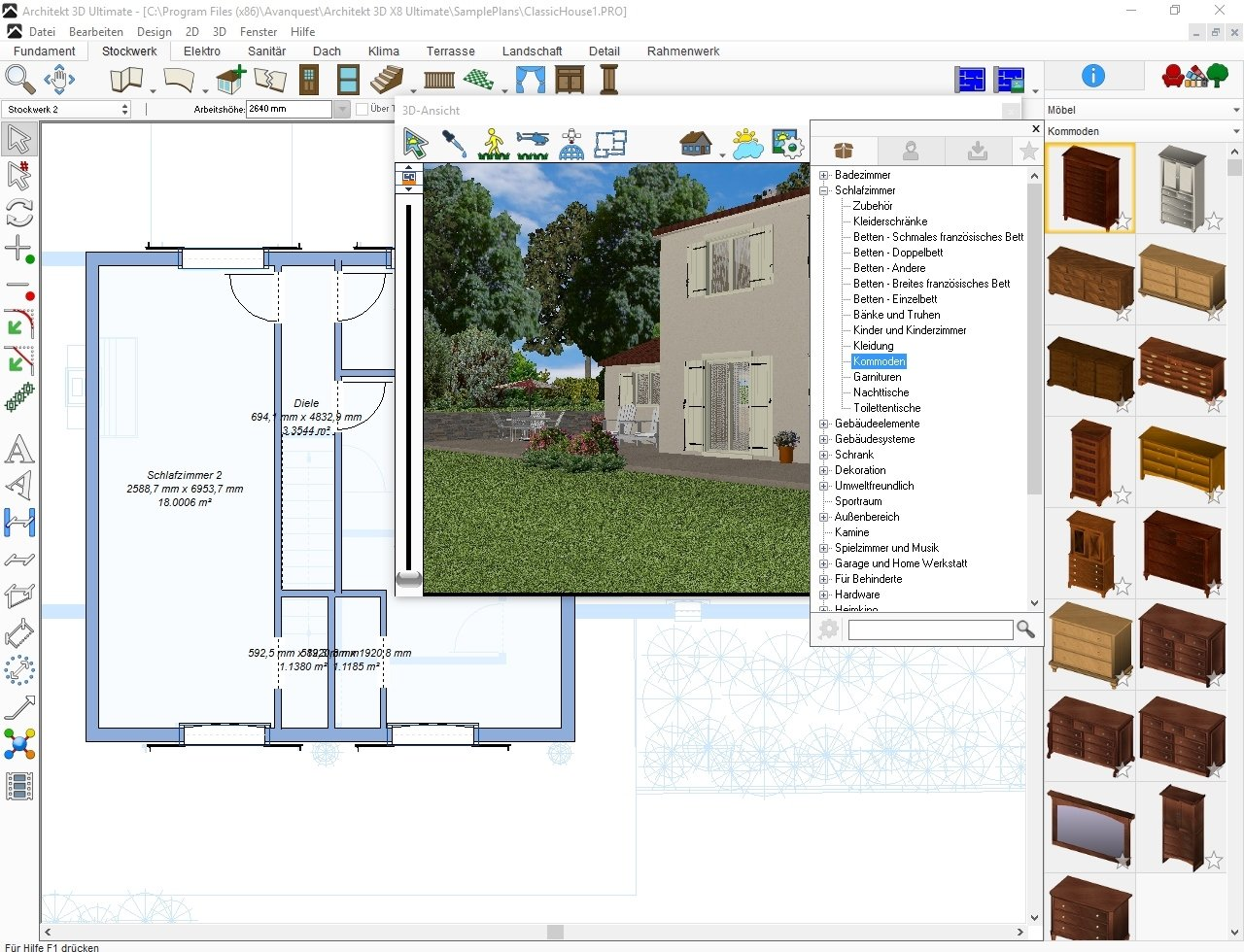 Architekt 3D X8 Ultimate [PC Download]: Amazon.de: Software