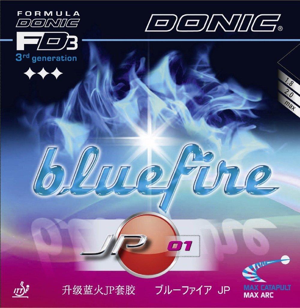 テーブルテニスRubbers Donic Bluefire jp01、2.00 MM、レッド B00W0ES22C