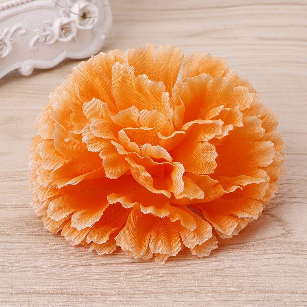 Mentin Lot DE 10 T/ête de Fleur doeillet Artificiel D/écoration de Maison Artisanat Orange