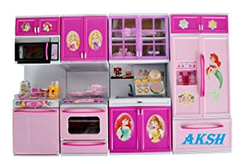 Buy Aksh Dream House Kids Choice Big Size Kitchen Modern Kitchen Set 4 Pcs Color Theme As Per Availability Online At Low Prices In India Amazon In
