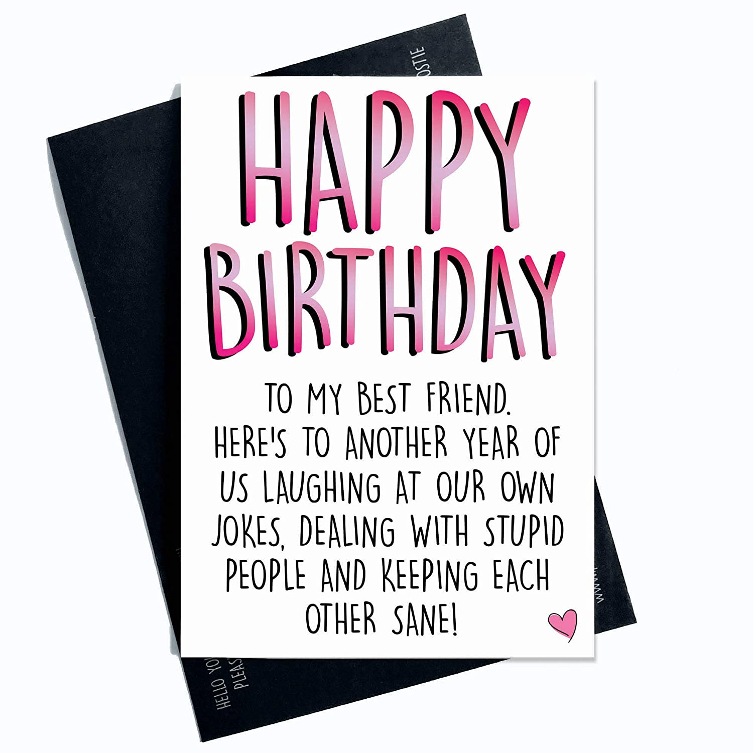 Groovy Best Friend Best Friend Happy Birthday Funny Personalised Birthday Cards Veneteletsinfo