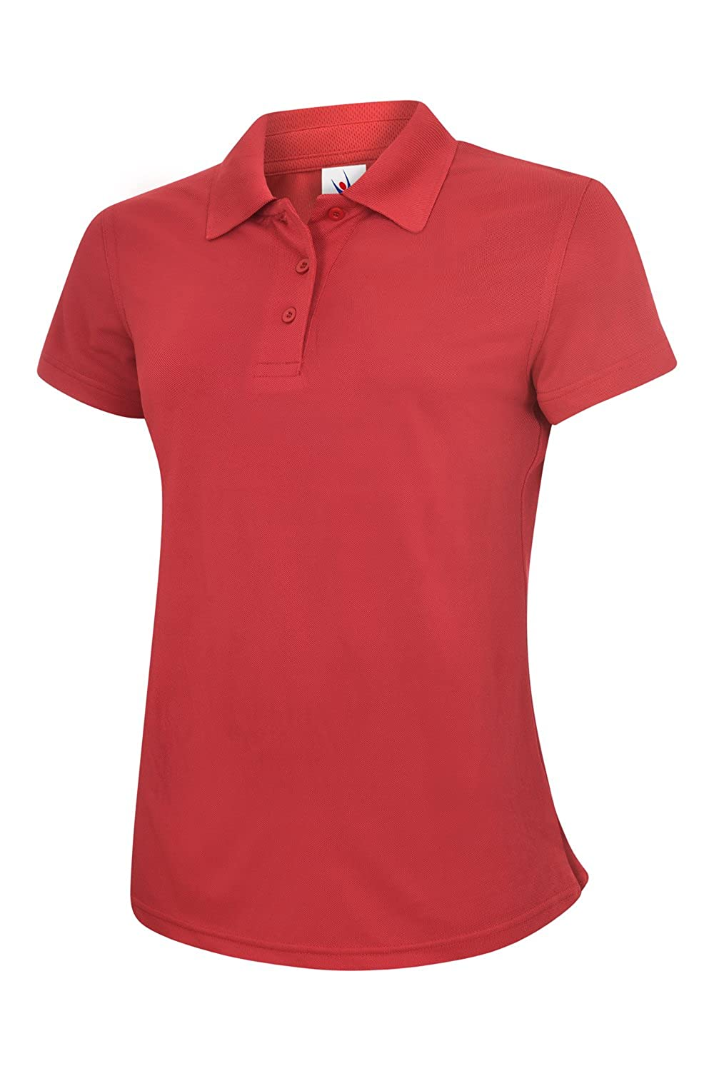 Uneek Ladies Super Cool Workwear Polo Shirt 100% Breathable Sports Style - 5 Colours Available