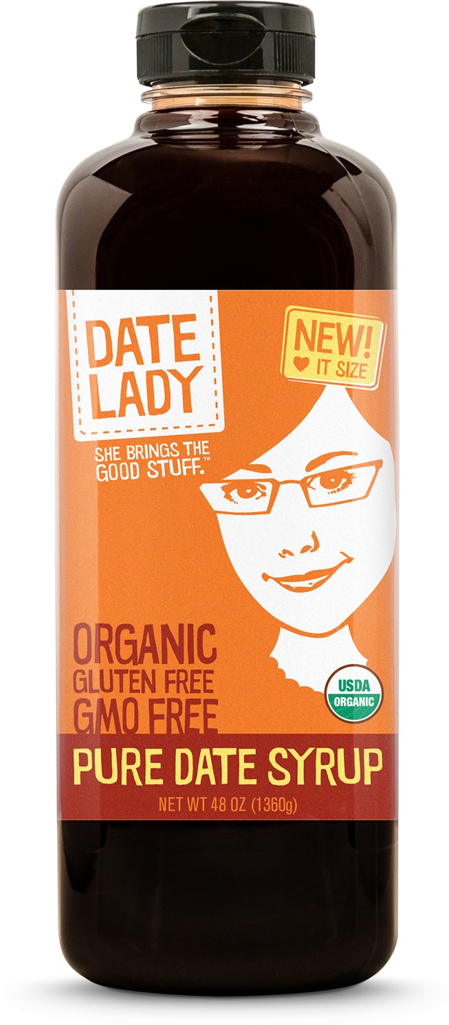Premium ORGANIC Pure Date Syrup - Date Lady 48oz Squeeze Bottle - 2016 SOFI Award Winner! Single Source with NO fillers | NON-GMO, VEGAN, GLUTEN-FREE & KOSHERTHE #1 DATE SYRUP ON AMAZON!
