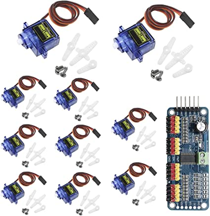 10pcs SG90 9G Micro RC Servo Motor Robot Arm Helicopter Airplane Remote Control