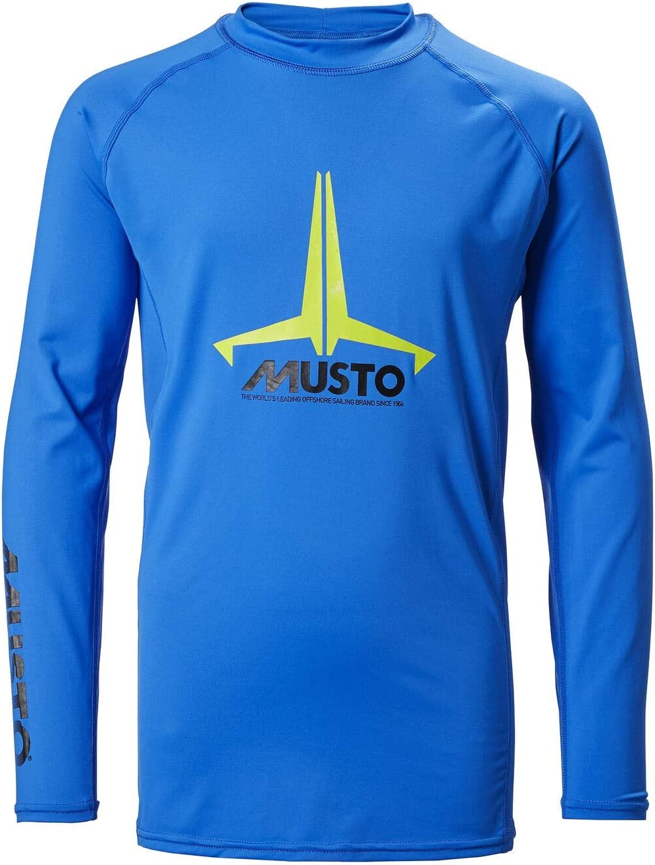 Musto Kids Juvenil Junior Insignia UV Dry LS Camiseta tee Camiseta Top Azul Brillante - Protección Solar UV y propiedades SPF: Amazon.es: Deportes y aire libre