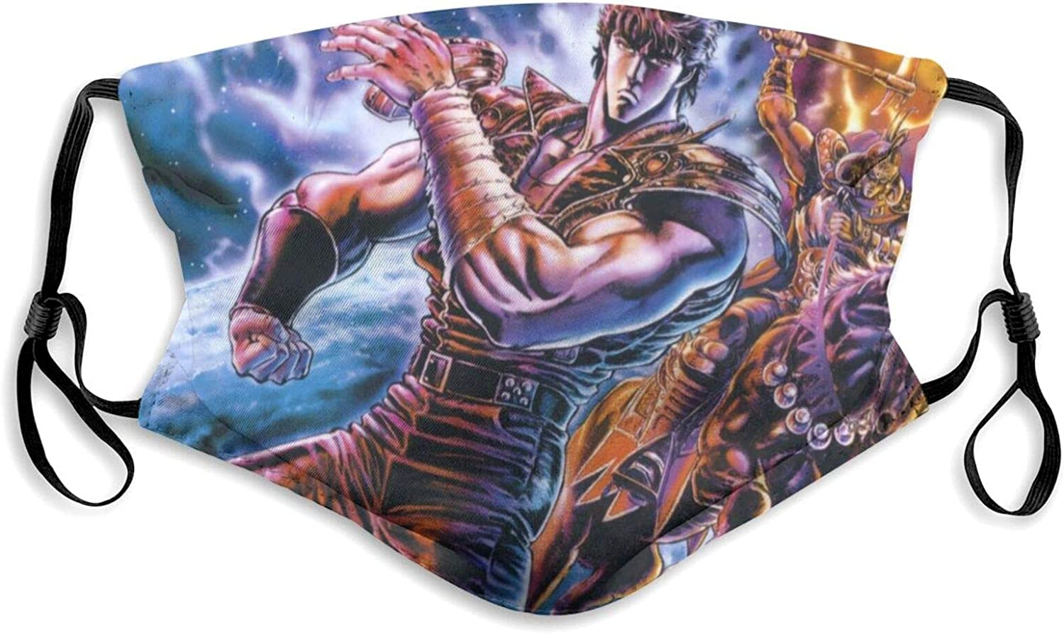 Fist of The North Star Dust mask with Filter Washable Breathable for Men Women &Teenage