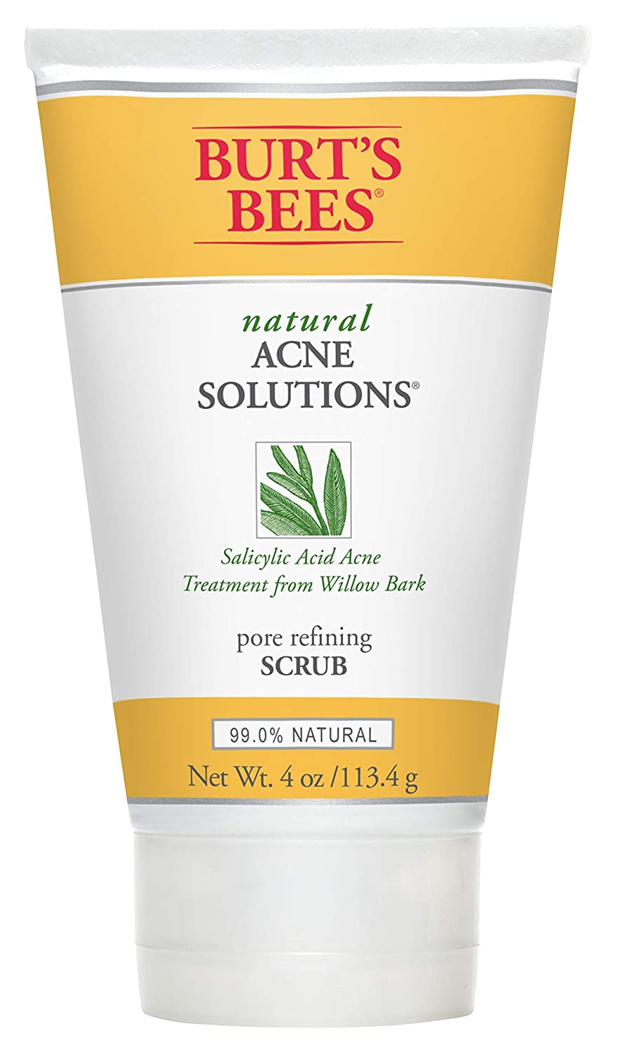 Best Face Scrubs For Acne - Burt's Bees Natural Acne Solutions Pore Refining Scrub, Exfoliating Face Wash for Oily Skin