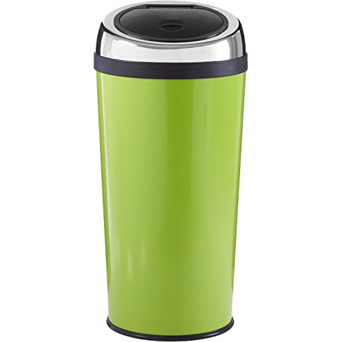 Premier Housewares Lime Green Push Top Bin 30 Litre
