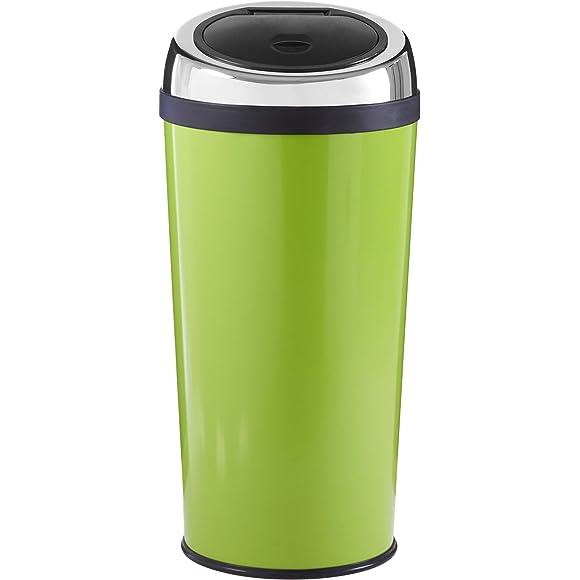 Premier Housewares Lime Green Push Top Bin 30 Litre