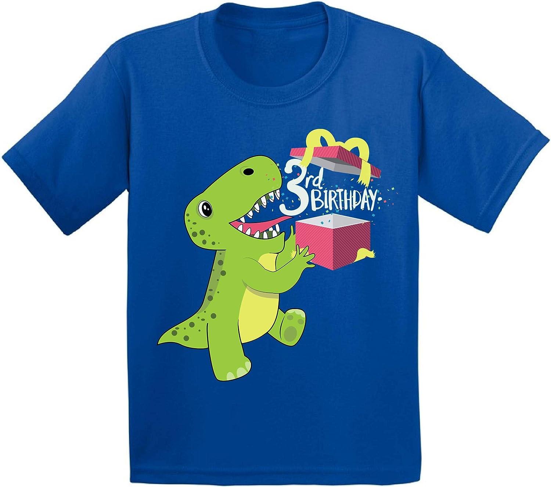 Awkward Styles Dinosaur Birthday Toddler Shirt 3rd Birthday Party Shirt for Kids
