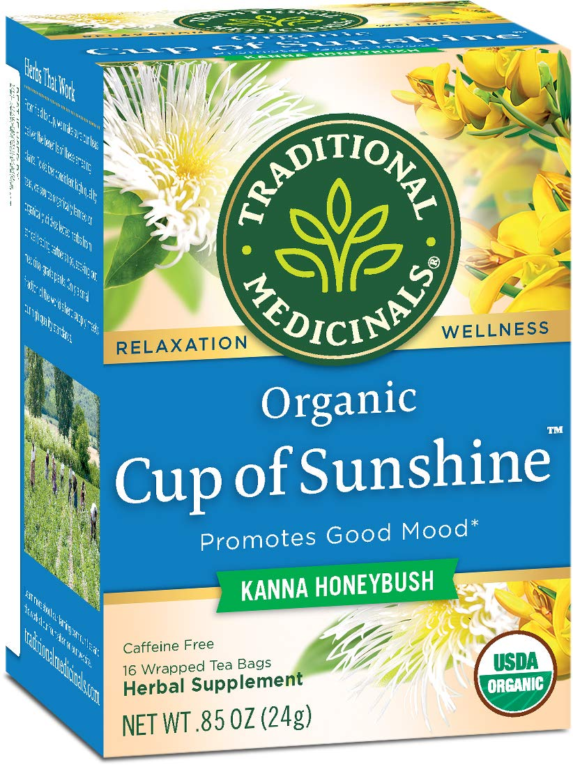 Traditional Medicinals Organic Cup of Sunshine Kanna Relaxation Tea, 16 Tea Bags (Pack of 6) by Traditional Medicinals
