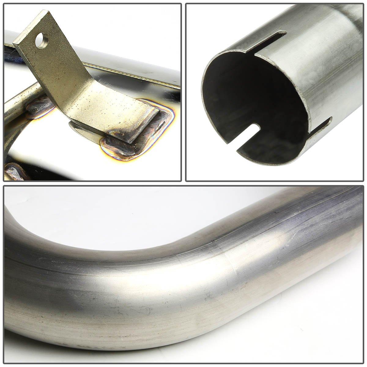 DNA MOTORING CBE-CPTC99-NRT Rolled CBECPTC99NRT Stainless Steel Catback Exhaust System