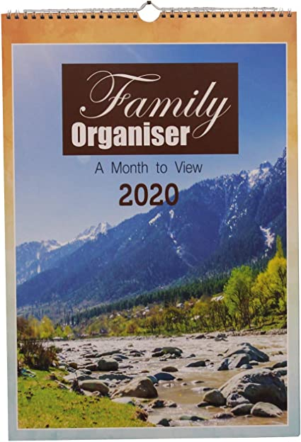 Calendario del organizador familiar A3 grande de 2020 Un mes para ...