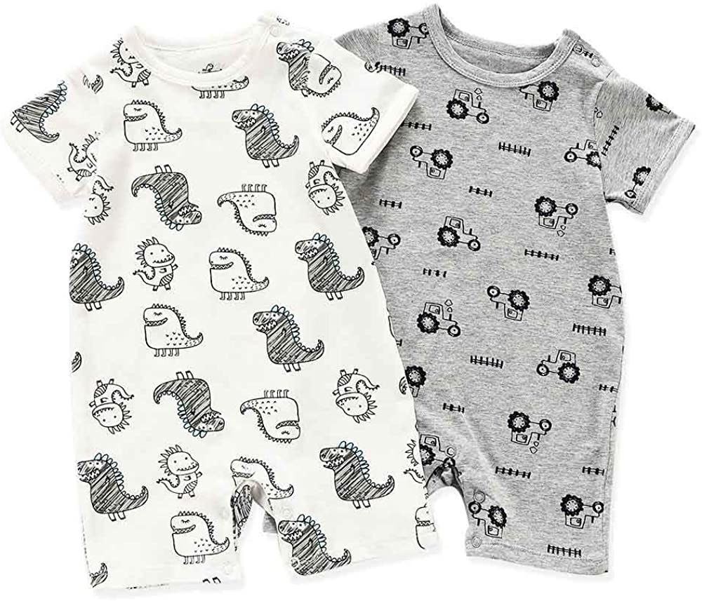 Pack of 5 Baby Girls Bodysuits Short-Sleeved Cotton