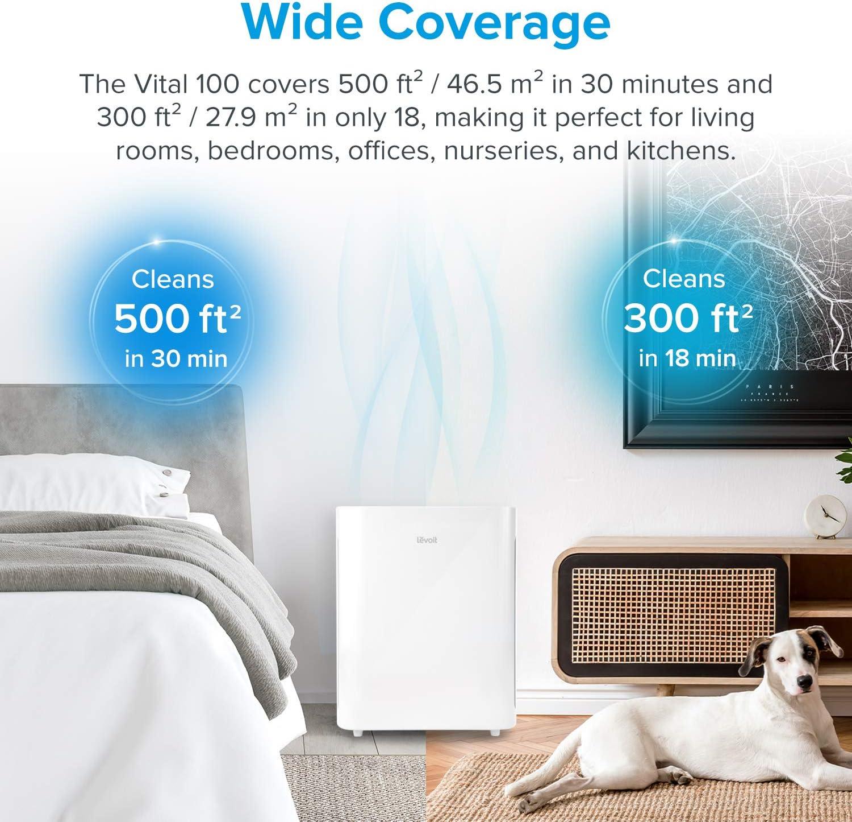 LEVOIT purificador de aire para el hogar con filtro HEPA verdadero ...