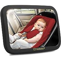 Espejo grande inastillable para el coche del bebé – Espejo de seguridad para asiento de coche para bebé orientado hacia…