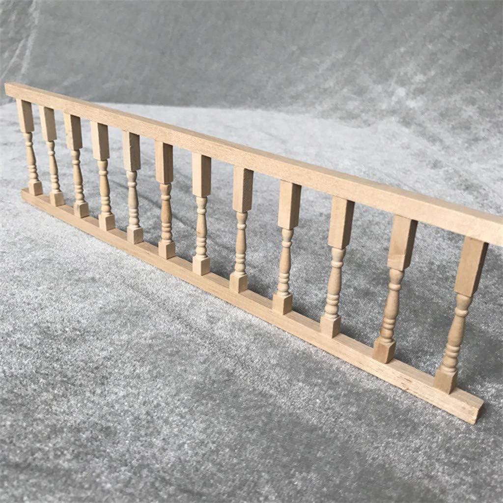 ToDIDAF Mini cl/ôture Miniature Rampe 1//12 pour Maison de poup/ée en Bois Mignon Maison Mini cl/ôture Artisanat Fournitures D/écoration 30,5 x 7,5 x 0,7 cm
