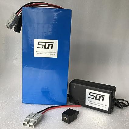 Amazon.com: LiFePO4 - Batería de 36 V 20 AH (5 A, cargador ...