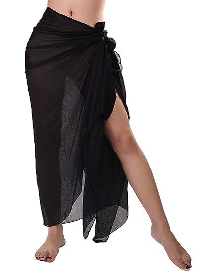 f4a1ae053f Boao Women Scarves Soft Silky Scarf Long Shawl Wrap for Evening Wedding  Party Everyday (Black