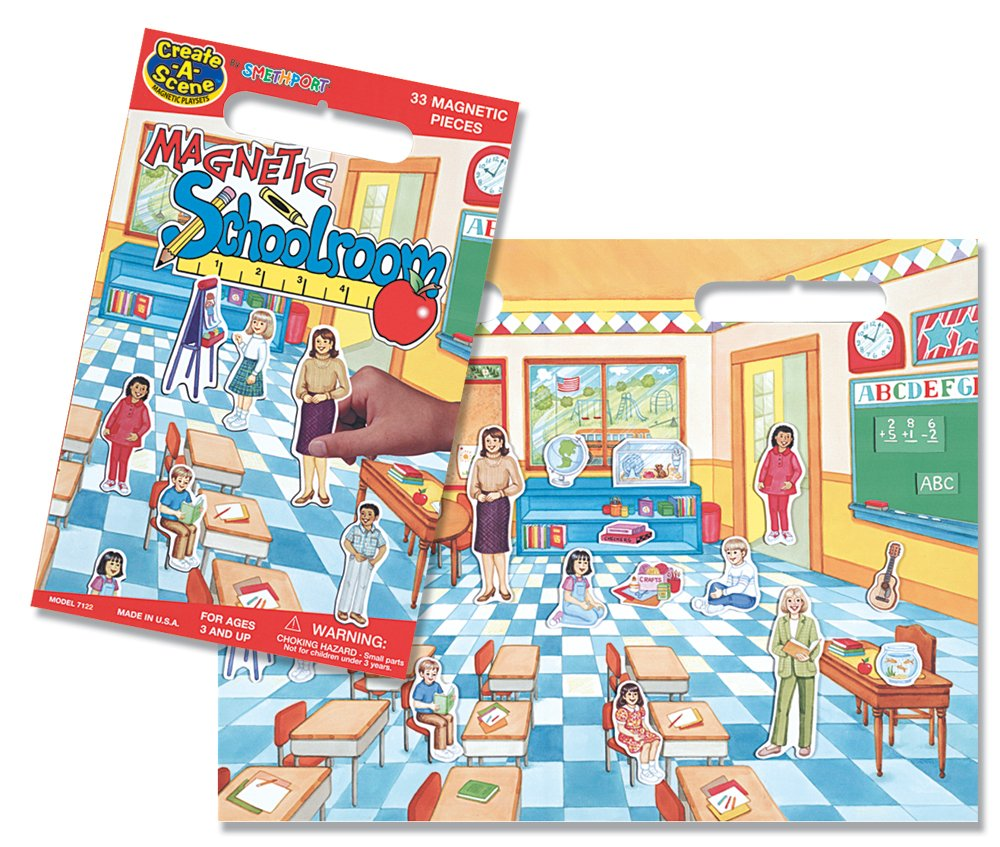 Create-A-Scene Magnetic Playset School Room Patch Products 7122
