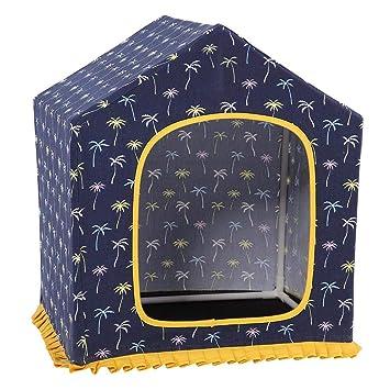 Smandy Casetas para Perros, Casa de Mascotas Lavable Nest Dog Bed con Almohadilla Superior extraíble para Puppy Cat: Amazon.es: Productos para mascotas