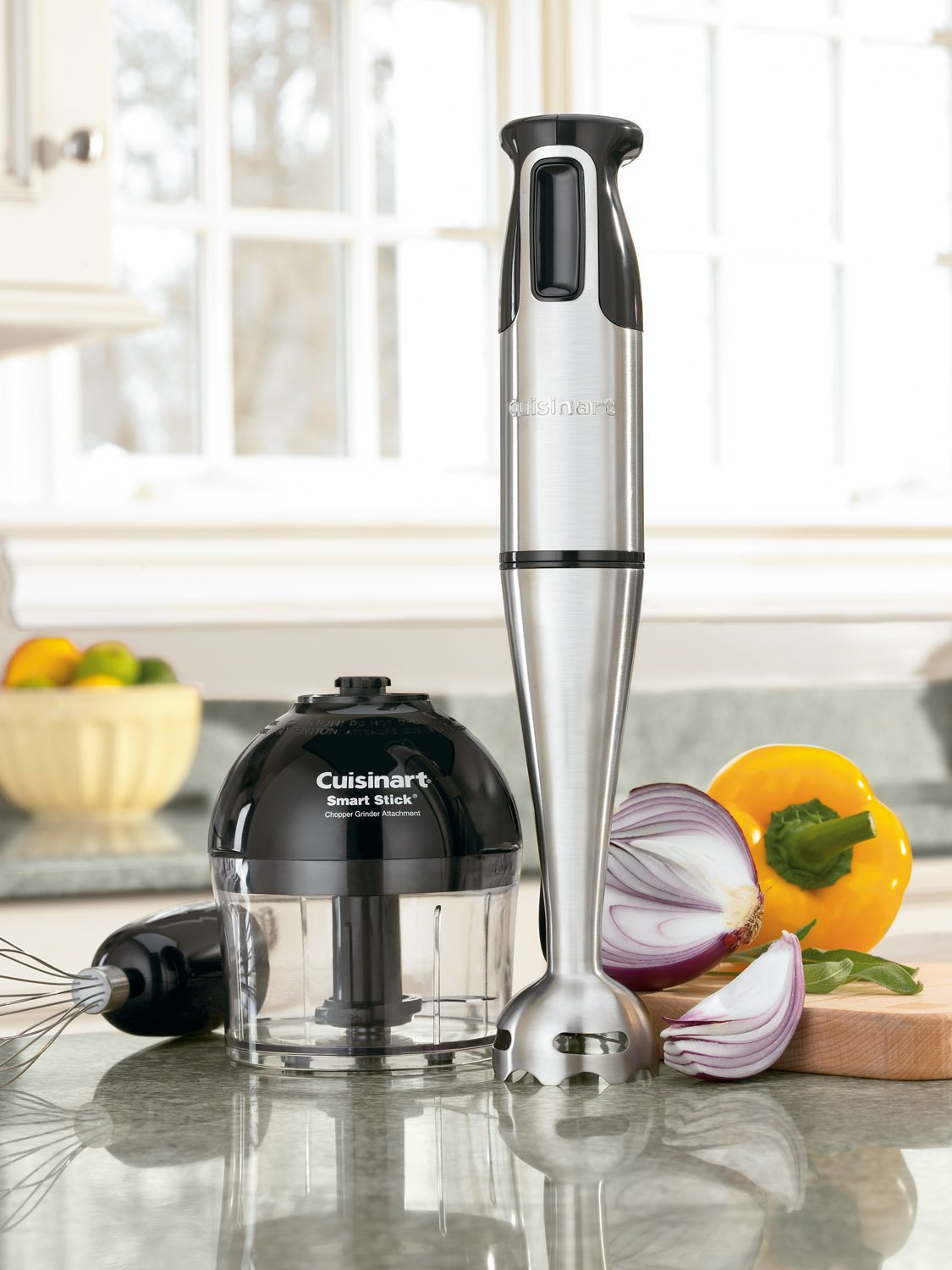 Cuisinart CSB-77 Smart Stick Hand Blender with Whisk and Chopper Attachments by Cuisinart