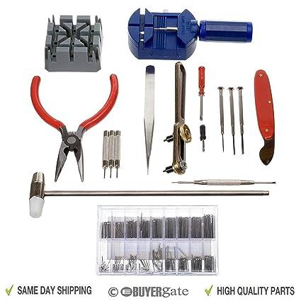 Acenix - Kit de herramientas para reparación de relojes de coche, 124 piezas, con