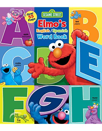 Sesame Street: Elmos Word Book: An English/Spanish Flap Book (Lift-
