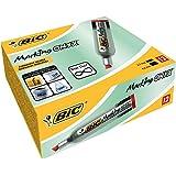 Bic 8418111 Marking Onyx 1481 Marqueurs Permanents - Rouge, Boîte de 12