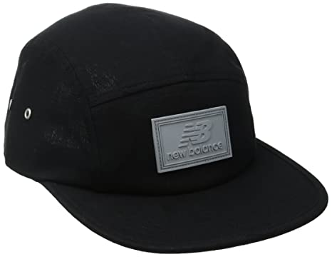 New Balance 5 Panel Rip stop Camper Cap, Black, One Size