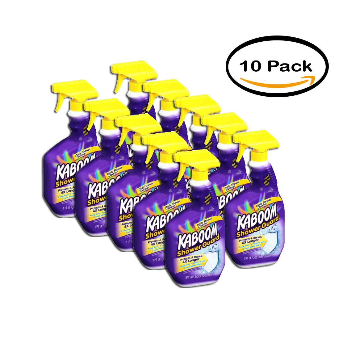 PACK OF 10 - Kaboom Shower Guard Daily Shower Cleaner, 30 fl oz