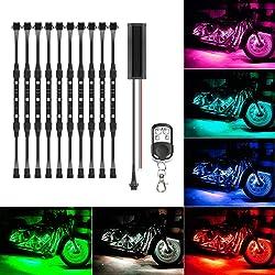 picture of 10Pcs Led Light Kits Multi-Color Wireless Remote