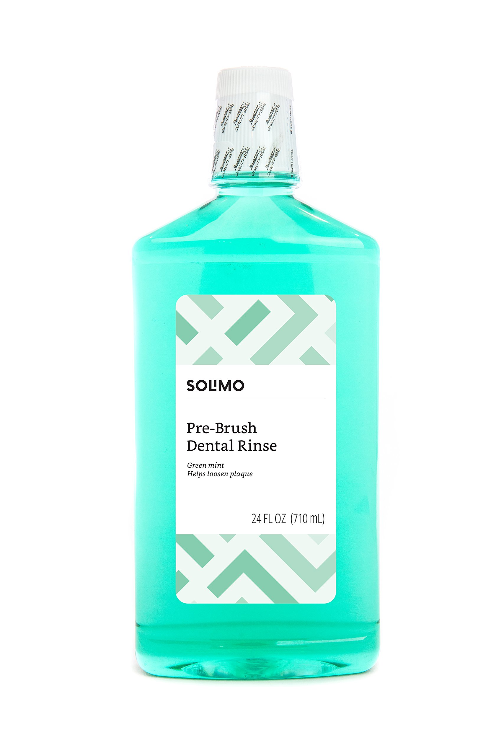 Amazon Brand - Solimo Pre-Brush Dental Rinse, Green Mint, 24 Fluid Ounce
