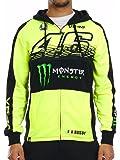 Valentino Rossi Monster Energy Florescent Yellow Collection Sponsor Felpa con Zip