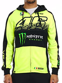 Sudadera Valentino Rossi Oficial 2017 Monster 46 XXL: Amazon.es: Coche y moto