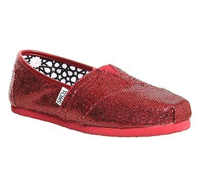 229845b044d27 Toms Glitter Espadrille Red Glitter - 3.5 UK: Amazon.co.uk: Shoes & Bags