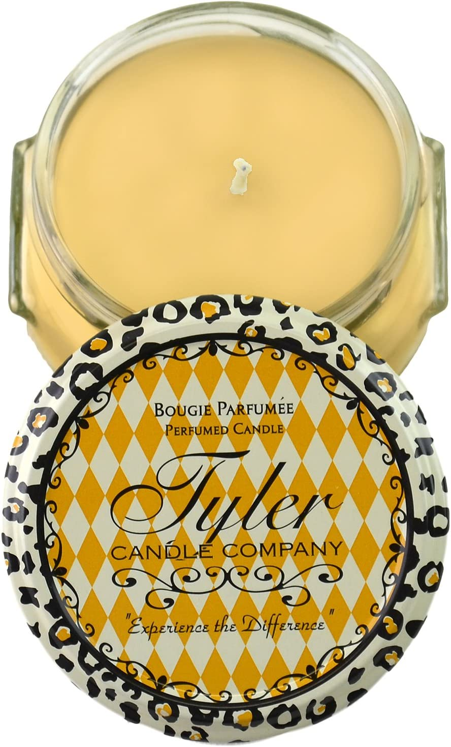 Tyler Glass Fragrance Candle 3.4 Oz,Mango Tango