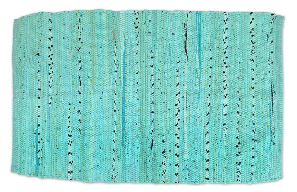 DII Contemporary Reversible Floor Rug for Bathroom, Living Room, Kitchen, or Laundry Room (20x31.5) - Aqua by DII