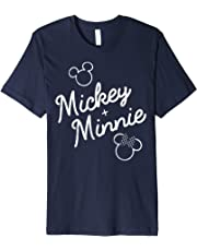 Disney Mickey Plus Minnie Mouse Outline Graphic T-Shirt