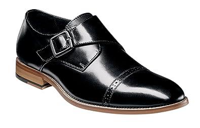 4adf6bc6e59 STACY ADAMS Men s Desmond Cap-Toe Monk-Strap Slip-On Loafer
