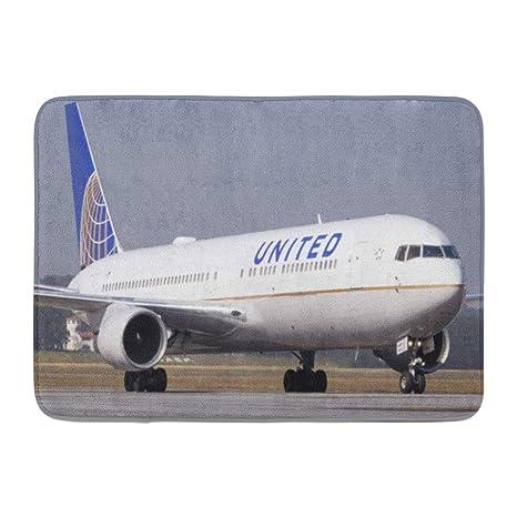 Amazon com: Emvency Bath Mat Plane Boeing 767 300 United