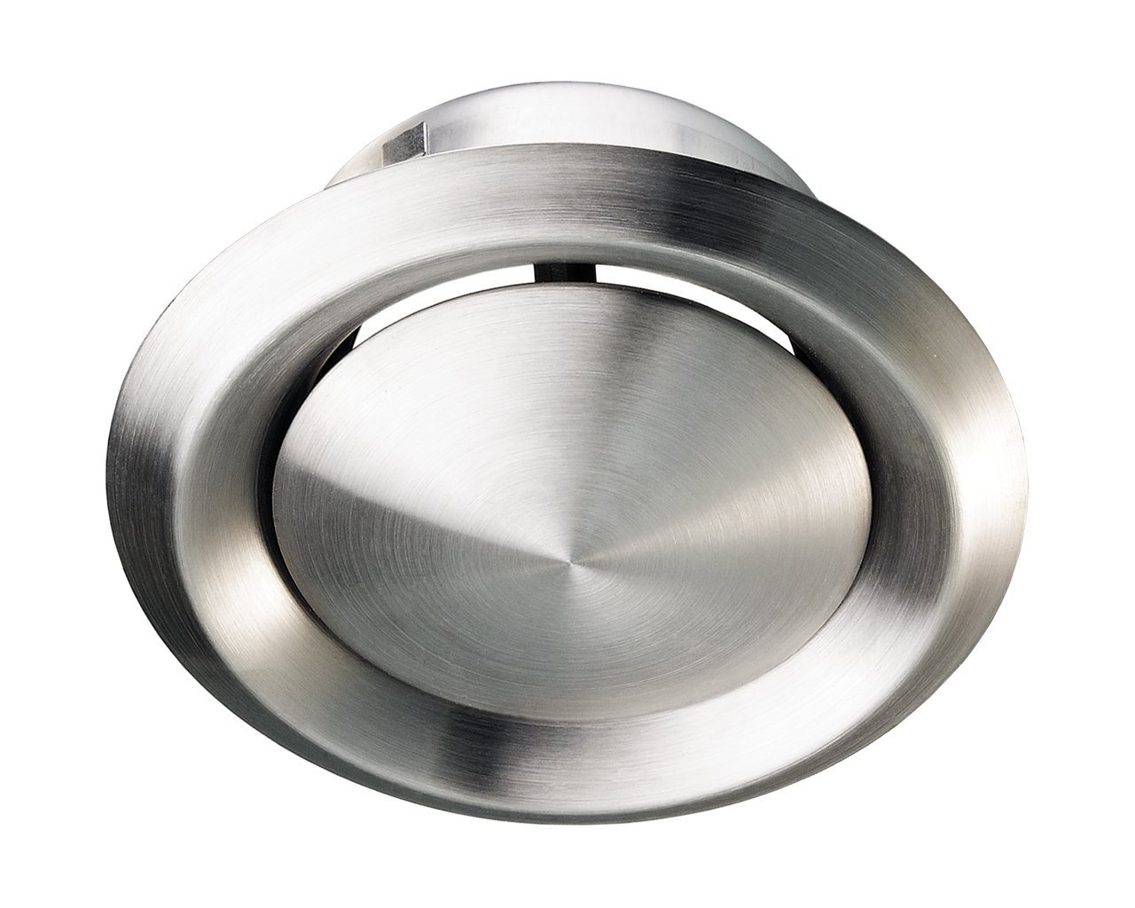 Stainless Steel Metal Ceiling Mounted Round Air Valve Vent Grill, MVHR Heat Recovery, Ventilation Duct Fan (125mm (5') Dia) Ventilation Duct Fan (125mm (5) Dia) Fantronix