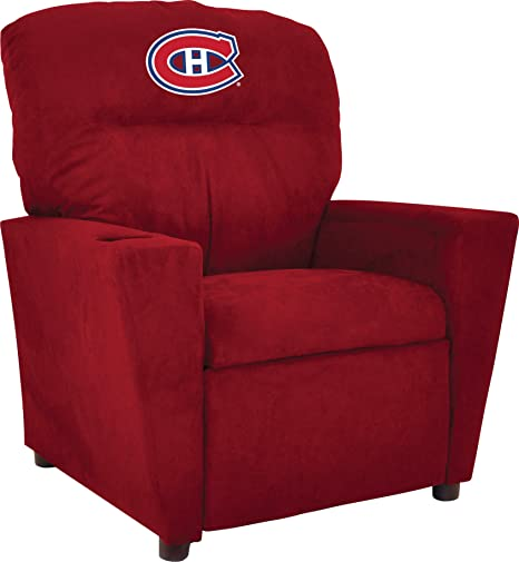 Beau Imperial Officially Licensed NHL Furniture: Youth Microfiber Recliner,  Montreal Canadiens