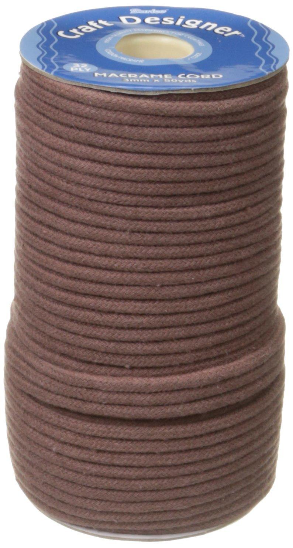 Jewelry Designer RC3BL Macramé Cord Polyester 3Mm 32Ply 50Yd, Black Darice