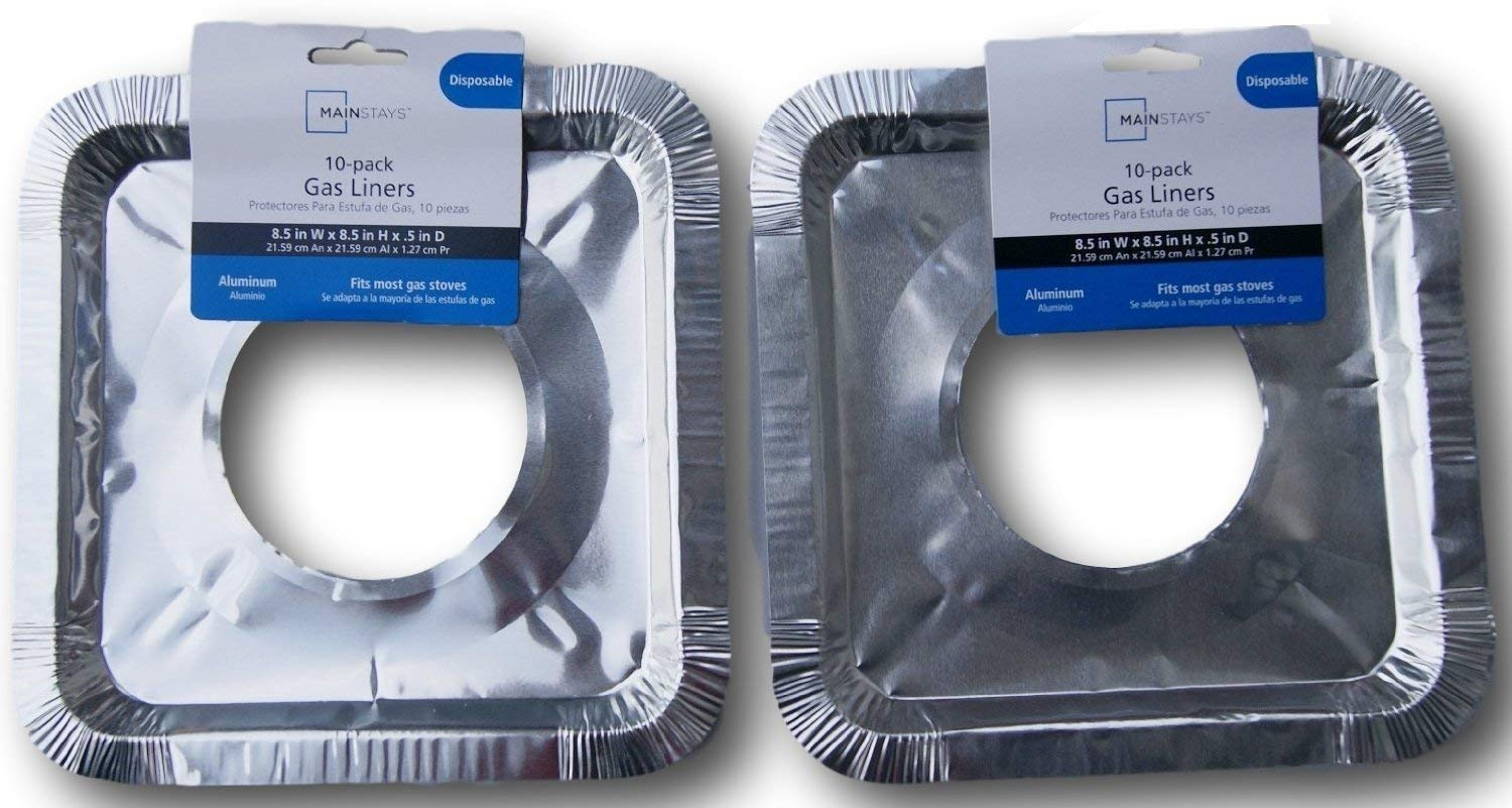 Amazon.com: Basic Gas Stove Drip Pan Foil Liners for Easy Clean-up (Disposable) - Pack of 30: Appliances