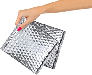 25 Pack Thermal Bubble Mailer 6 x 6. Thermal Padded Envelopes. Cushion Food Mailers. Peel and Seal. Thermal Shipping Bags for Mailing, Packing. Wholesale Price.
