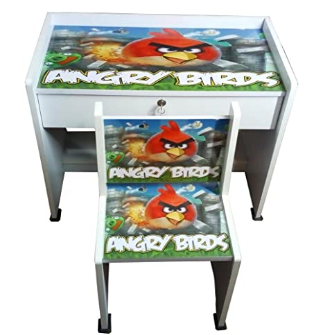 fe85d5a1f BigSmile Kids Study Table Set   Angry Bird (Glossy Finish)  Amazon.in  Home    Kitchen