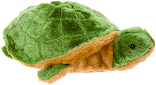 Turtle Slippers - Plush Novelty Sea Animal Slippers by Silver Lilly (Green, Small)